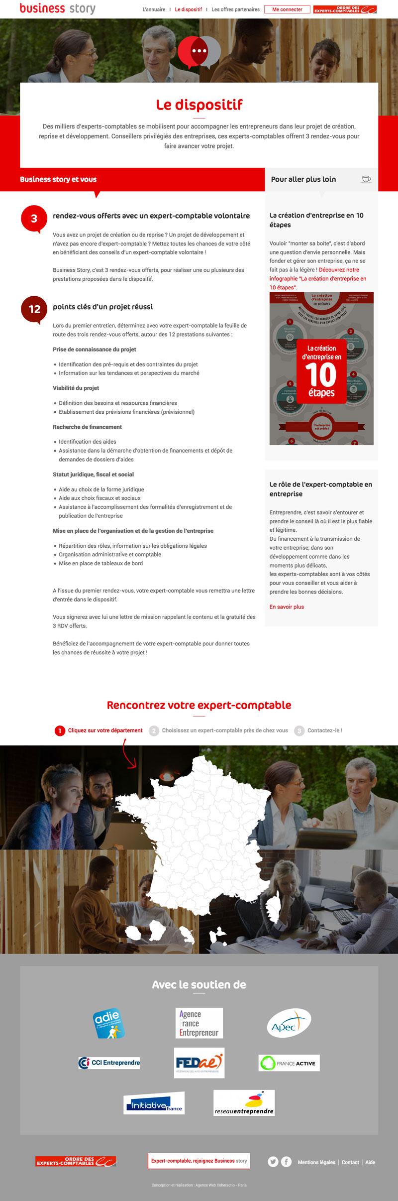 Business Story - Développement site Drupal responsive pour l'Ordre des Experts Comptables par Coheractio Agence Web Paris