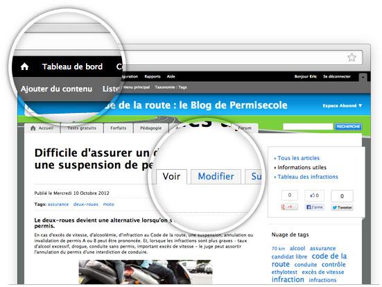 Création de site Internet Drupal - gestion du contenu éditorial et multimédia