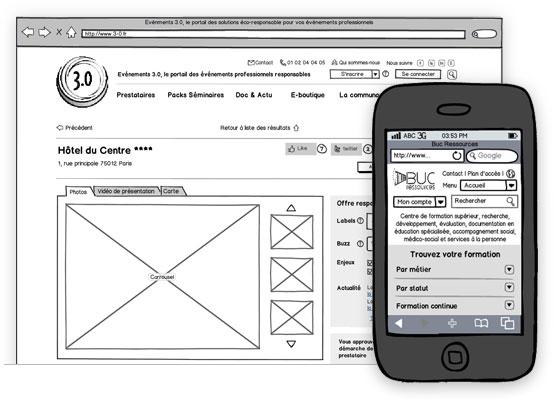 Création de sites Internet - optimisation UX par wireframes