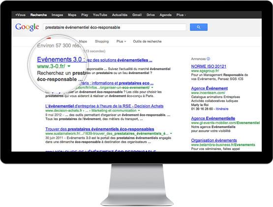 Coheractio - Agence Web Paris - optimisation du référencement naturel (SEO) du site Evénements 3.0